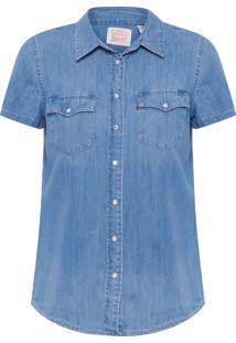 Camisa Feminina Classic Western - Azul