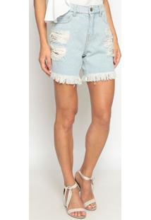 Bermuda Jeans Destroyed - Azul Clarocalvin Klein