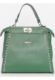 Bolsa Com Trançado - Verde - 24X26X13Cmgriffazzi