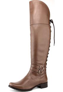Bota Over The Knee Cano Longo Florense Whisky