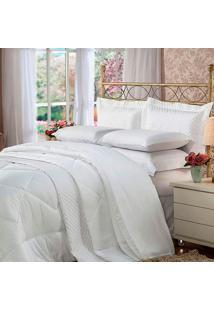 Conjunto De Cobreleito Com 2 Fronhas Casal Soft Touch Branco