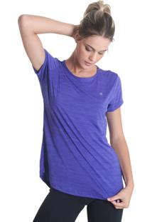 Camiseta Levíssima Mescla - Roxo - Líquido