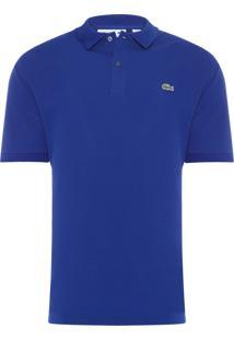 Polo Masculina Slim Fit Petit Piqué - Azul