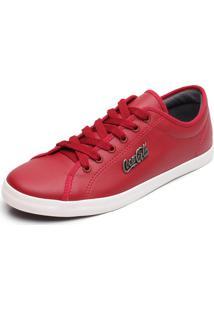 Sapatênis Coca-Cola Shoes Marx Vermelho