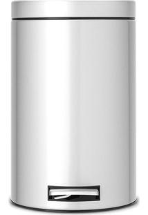 Lixeira Classic- Inox & Preta- 12L- Spicym.Cassab