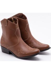 Ankle Boot Ana Luz Caramelo