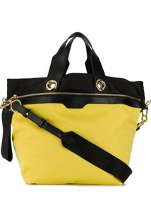 See By Chloé Bolsa Tote Color Block - Amarelo