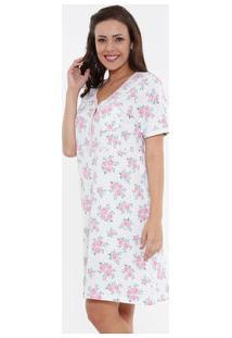 688f79b35 Marisa. Camisola Feminina Manga Curta Floral Marisa