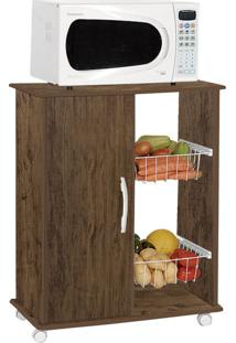 Gabinete De Cozinha Iana Com Fruteira 1 Pt Amêndoa