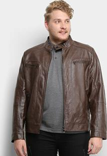 Jaqueta Broken Rules Lisa Plus Size Masculina - Masculino-Marrom