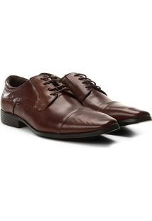Sapato Social Democrata Vince Light Masculino - Masculino-Marrom