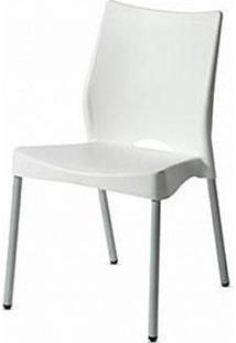 Cadeira Malba Base Fixa Pintada Cinza Cor Branco - 11608 Sun House