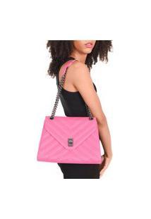 Bolsa Transversal Maria Milão Matelassê Rosa/Pink