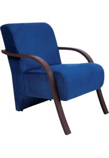 Poltrona Decorativa Azul Marinho Gigante Mã³Veis - Azul Marinho - Dafiti