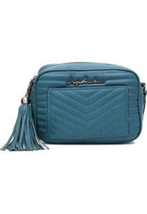 Bolsa Luiza Barcelos Matelassê Azul
