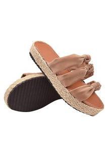 Sandália Confortável Detalhe Em Corda Super Leve E Macia Rosa