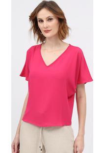 Blusa Crepe - Pinkscalon