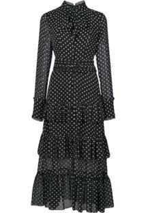 Alexis Vestido Parissa Com Estampa Geométrica - Preto