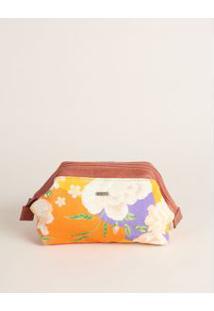 Necessaire Tecido Floral Pequena - Floral U
