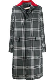 Marni Multi-Print Button-Up Long Coat - Cinza
