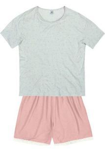 Pijama Curto Feminino Estampado