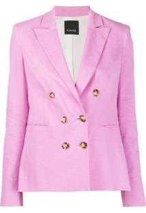 Pinko Blazer Com Abotoamento Duplo - Rosa