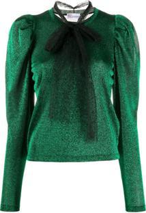 Redvalentino Blusa Com Mangas Bufantes - Verde