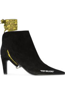 Off-White Ankle Boot 'For Walking' - Preto