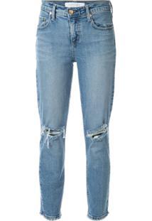 Nobody Denim Calça Jeans Skinny Com Rasgado - Azul