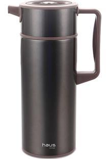 Garrafa Térmica Scala- Inox & Preta- 30X14,8X17,2Cm