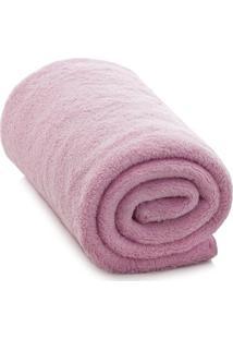 Cobertor Em Microfibra- Rosa- 90X110Cm- Camesacamesa