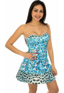 Vestido Capim Canela Tomara-Que-Caia Sweet Dreams Azul