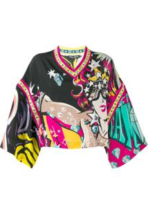 Dolce & Gabbana Blusa Supereroine - Preto