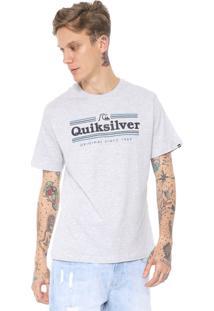 Camiseta Quiksilver Get Buzzy Cinza