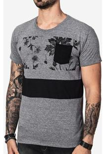 Camiseta Recorte Preto 100654