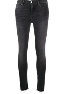 Calvin Klein Jeans Calça Jeans Skinny Cintura Média - Cinza