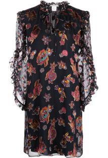 Alice+Olivia Julius Paisley Print Dress - Preto