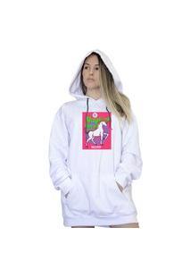 Casaco Canguru Boutique Judith Magical Horse Branco
