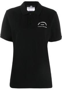Karl Lagerfeld Camisa Com Logo - Preto