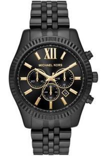 Relógio Michael Kors Essential Lexington Feminino - Feminino-Preto