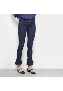 Calça Jeans Flare Drezzup Cintura Média Feminina - Feminino-Jeans
