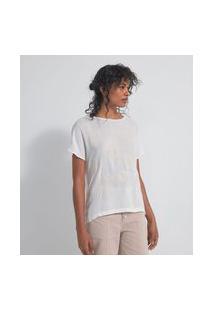 Blusa Manga Curta Bordado De Conchas | Marfinno | Branco | Pp