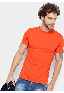 Camiseta Lacoste Básica Jersey Masculina - Masculino-Coral