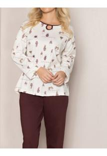 Pijama Longo Vasos Pzama (50011) 100% Algodão