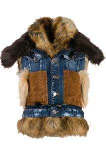 Dsquared2 Mixed Material Denim Gilet - Azul
