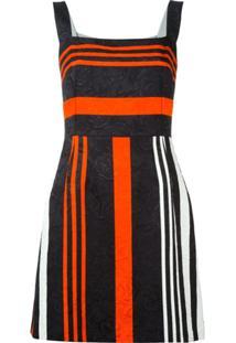 Dolce & Gabbana Vestido Listrado - Preto