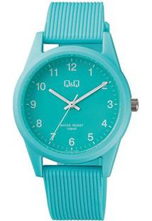 Relógio Qq De Pulso Analógico Vs12J010Y Feminino - Feminino-Azul Claro