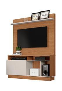 Estante Home Theater Para Tv Até 60 Pol. Parati Natura Real/Off White