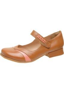 Sapato Feminino Miuzzi Whisky / Goiaba Ref: 3214 - Kanui