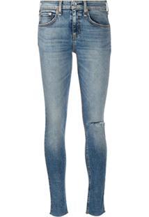 Rag & Bone Calça Jeans Skinny Com Efeito Destroyed - Azul